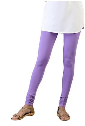 Twin Birds Cotton Leggings - Purple