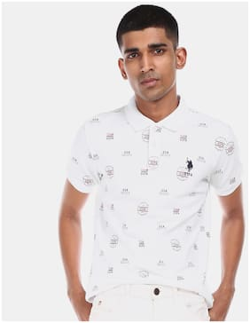 Men Polo Collar Printed T-Shirt Pack Of 1