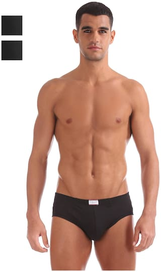 U.S. Polo Assn. Solid Briefs - Black ,Pack Of 2