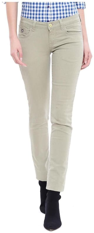 U.S. Polo Assn. Women Solid Jeans - Brown