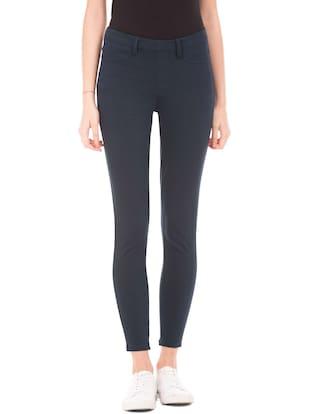 U.S. Polo Assn. Blue Cotton Skinny Fit Knit Pants