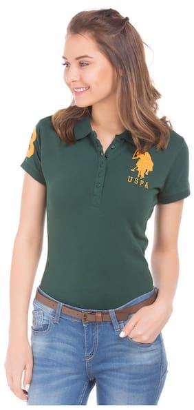 U.S. Polo Assn. Solid Green T Shirt