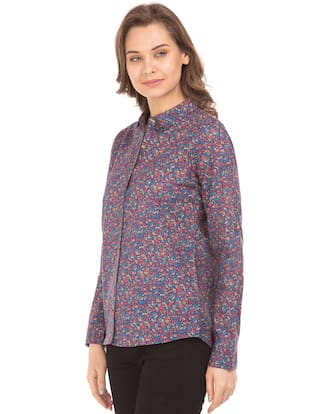 Blue Cotton Assn Shirt Fit Regular U Printed S Polo qwgItat