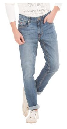 U.S. Polo Assn. Denim Co. Blue Cotton Stone Washed Slim Tapered Jeans