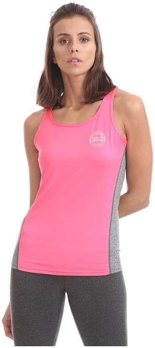 U.S. Polo Assn. Women Solid Regular top - Pink