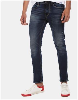U.S. Polo Assn. Men Blue Skinny Fit Jeans