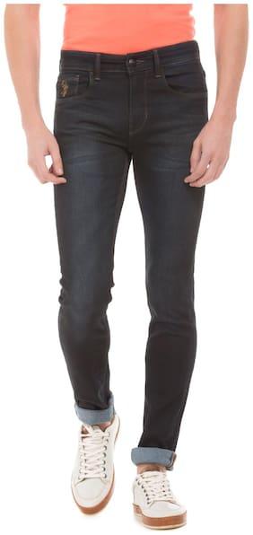 U.S. Polo Assn. Denim Co. Blue Cotton Dark Wash Skinny Fit Jeans