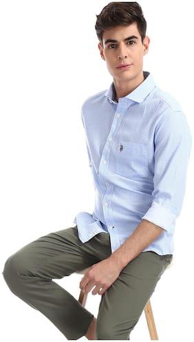 Men Regular Fit Polka Dots Casual Shirt