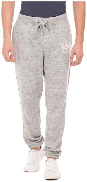 U.S. Polo Assn. Men Cotton Track Pants - Grey