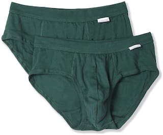 U.S. Polo Assn. Solid Briefs - Green ,Pack Of 2