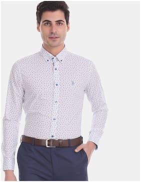 Men Regular Fit Printed Formal Shirt