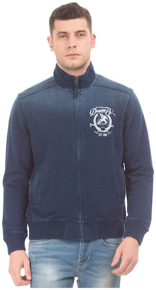 U.S. Polo Assn. Men Blue Solid Down jacket