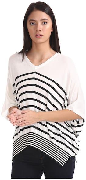 Women Striped V Neck Top ,Pack Of 1