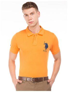 U.S. Polo Assn. Men's Polo T-Shirt - Orange