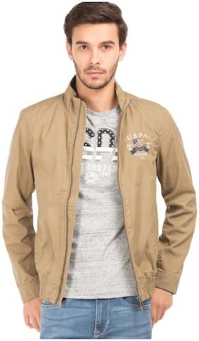 Men Cotton Long Sleeves Military Jacket