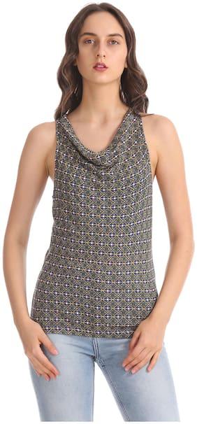 Women Printed Cowl Neck Top ,Pack Of 1