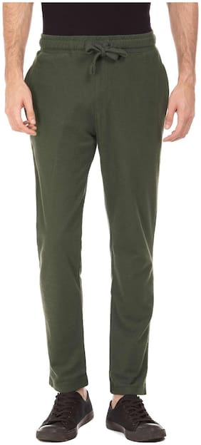 U.S. Polo Assn. Men Cotton Track Pants - Green