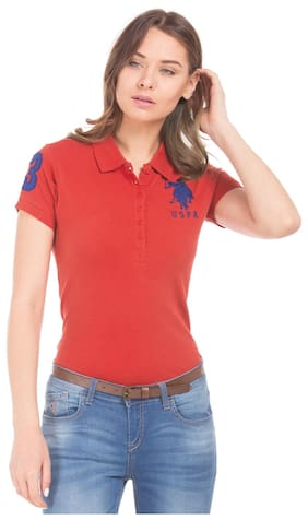 U.S. Polo Assn. Solid Red T Shirt
