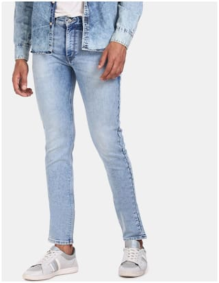 U.S. Polo Assn. Men Blue Tapered Fit Jeans