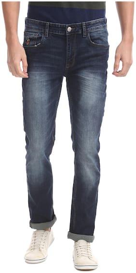 Men Skinny Fit Mid Rise Jeans