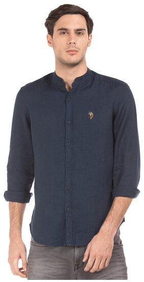 U.S. Polo Assn. Men Slim Fit Casual shirt - Blue