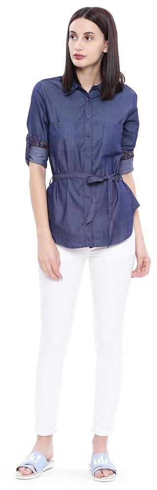 Shirt Polo Assn U S Blue Denim Women P6wqvqW57Y