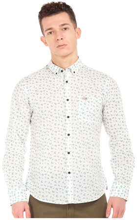 U.S. Polo Assn. White Men Slim Shirts