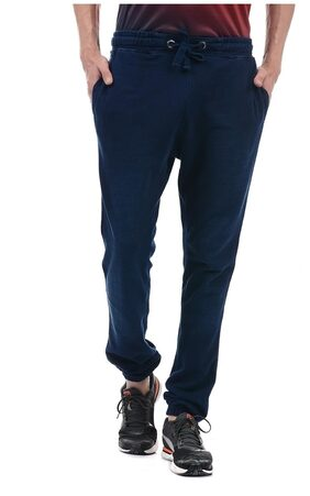 U.S. Polo Assn. Men Poly Cotton Track Pants - Navy Blue
