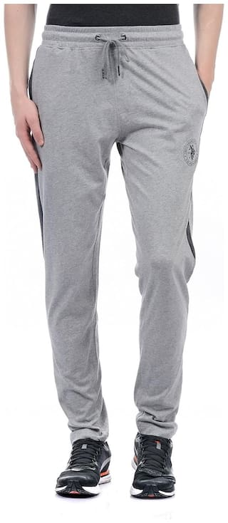 U.S. Polo Assn. Men Cotton Track Pants - Grey