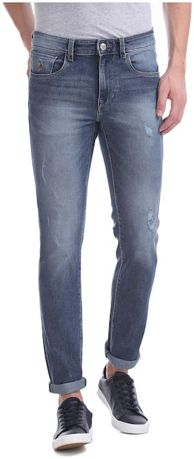 U.S. Polo Assn. Men Mid rise Skinny fit Jeans - Blue