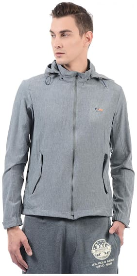 U.S. Polo Assn. Men Polyester Hoodie - Grey