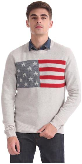 Men Wool Blend Full Sleeves Sweater