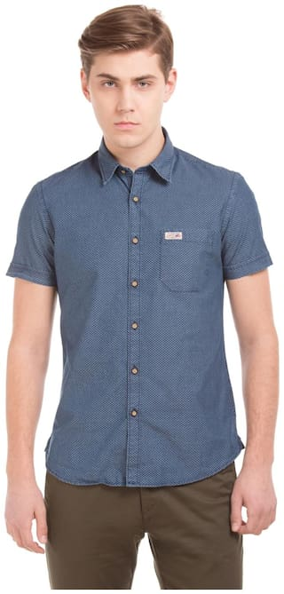 U.S. Polo Assn. Men Regular fit Casual shirt - Blue
