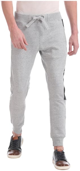 Regular Fit Cotton Blend Track Pants