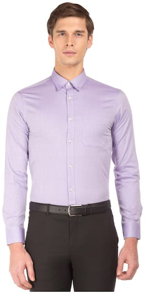 Men Slim Fit Solid Formal Shirt