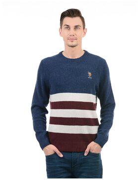 U.S. Polo Assn. Men Striped Full Sleeve Sweater