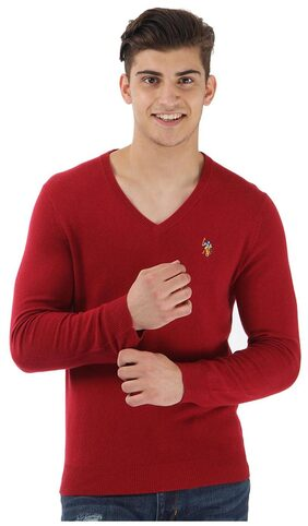 U.S. Polo Assn. Men Blended Sweater - Red