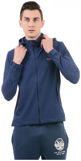 U.S. Polo Assn. Men Polyester Sweatshirt - Blue