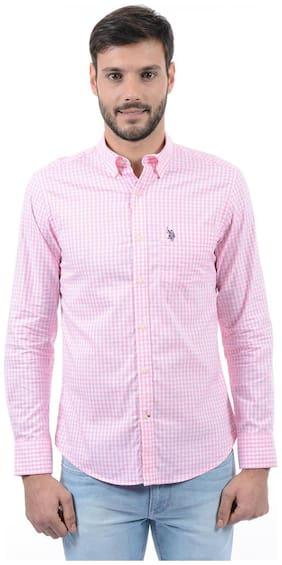 U.S. Polo Assn. Men Slim Fit Casual shirt - Pink