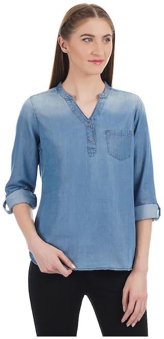 U.S. Polo Assn. Women Solid Shirt style - Blue