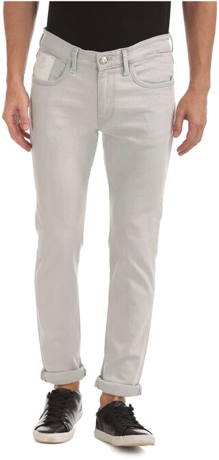 U.S. Polo Assn. Men Grey Clean Look Jeans