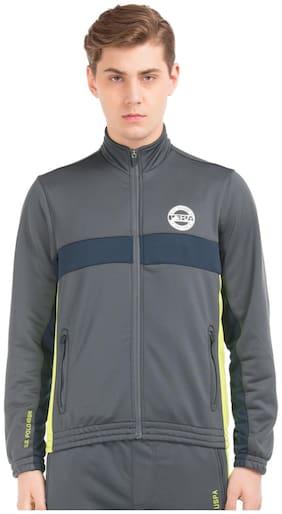 Men Polyester Blend Long Sleeves Jacket