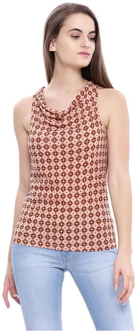 Women Polka Dots V Neck Top