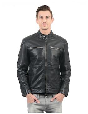 0c9a5d7ab4c U.S. Polo Assn. Men Leather Slim Jacket - Grey