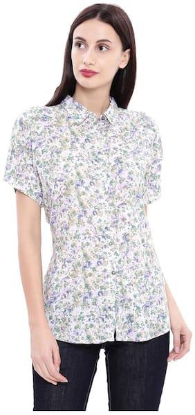 Women Printed Classic Collar Top