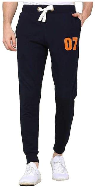 UBOF Men Blue Solid Slim fit Joggers