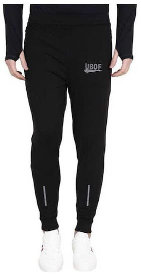 UBOF Men Black Solid Regular fit Joggers