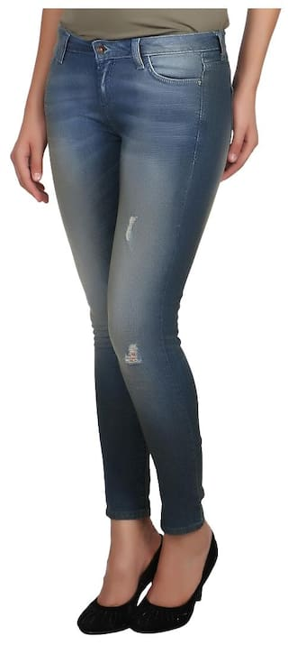 Jeans Benetton of for Cotton United Blue Colors Ladies p7ZAAw