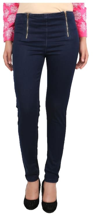 United Colors of Benetton Blue Cotton Jeans for Ladies