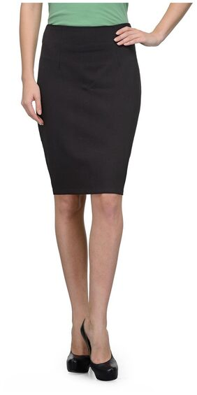 United Colors of Benetton Black Cotton Ladies Skirt